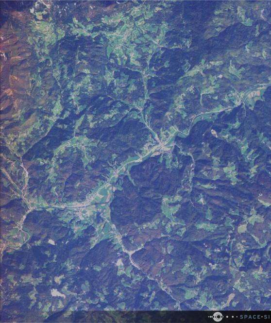 Večspektralni RGB posnetek Poljanske doline