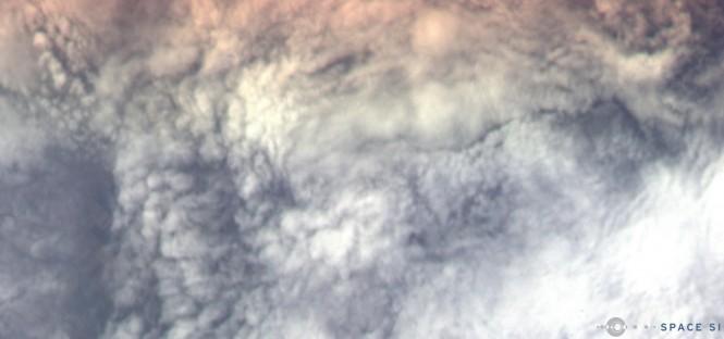 Slika 1. Prvi posnetek NEMO-HD iz vesolja nad vzhodno Slovenijo (18. 9. 2020)