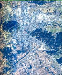 Ljubljana in Ljubljansko Barje - trikanalni naravnobarvni R-G-B prikaz