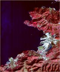 Koper - trikanalni naravnobarvni R-G-B prikaz