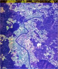 Kolpa pri Metliki - trikanalni naravnobarvni R-G-B prikaz